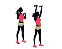 Grab two dumbbells and try the overhead press!    5 more exercise moves from the 15-minute fat-burning workout: http://blog.womenshealthmag.com/whexperts/build-strength-and-fry-fat-in-15-minutes/
