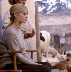 "Brigitte Bardot during the filming of ""Viva Maria"", 1965"