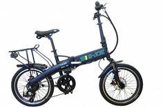 2015 e-JOE Epik Sport Edition SE Midnight Black Folding Electric Bike. BONUS: Xtreme Bright LED Bike Light.