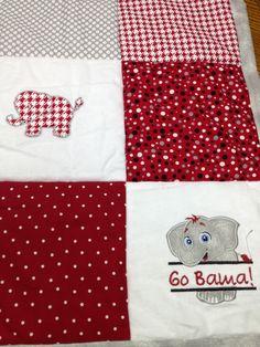 Lower right corner of Bama baby quilt