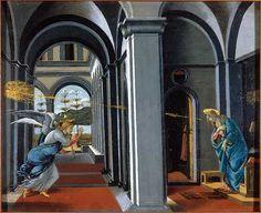 sandro botticelli - annunciation (2nd fresco), c. 1493