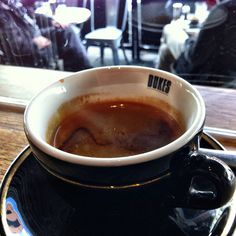 Long black coffee at Dukes on Chapel St in Windsor