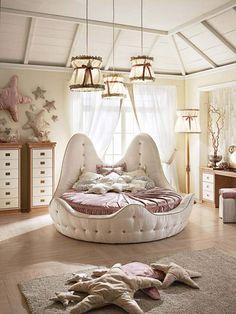 décoration chambre enfant fille avec coussins en forme étoiles de mer