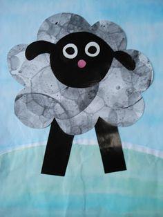 a faithful attempt: Baa Baa Black Sheep Collage Craft (entire website of art/craft ideas for by art teacher)