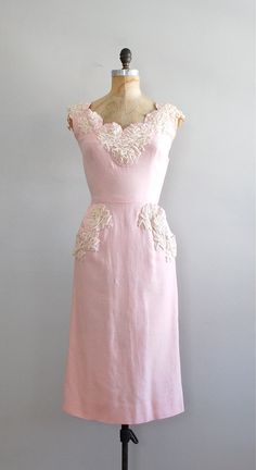 vintage 50s dress / 1950s dress / Le Plus Que Lente by DearGolden, $184.00