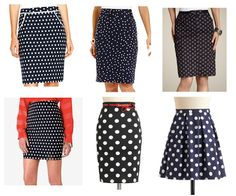 Polka Dot Skirts-the smaller the dots the more it looks like a solid instead of a print