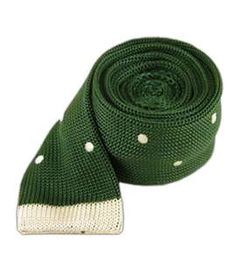 Tipped Knit Polkas - Grass | Ties, Bow Ties, and Pocket Squares | The Tie Bar