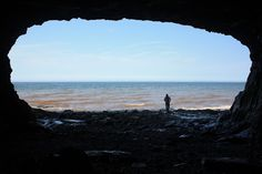 Hidden Jem - Sea Cave located on the Bay of Fundy - Photo by Heidi Hirtle http://www.notjustweddingphotography.blogspot.ca