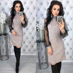 e9d123dec43 Women Vintage Lace Patchwork Straight Dress Elegant Long Sleeve Mini Sexy  Dresses 2019 Spring Casual Women