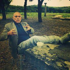 Maestro Sandro Chia, Castello Romitorio, Montalcino, Toscana.
