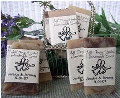 organic soap wedding favor