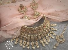 Fancy Jewellery Onli - February 16 2019 at Indian Jewelry Sets, Indian Wedding Jewelry, India Jewelry, Bridal Jewelry Sets, Bridal Jewellery, Fancy Jewellery, Stylish Jewelry, Fashion Jewelry, Jewelry Design Earrings