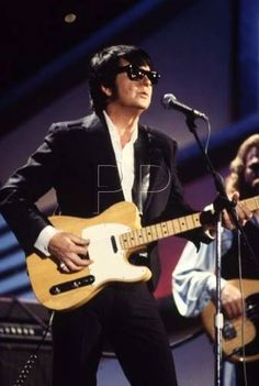 Roy Orbison and another one of his guitars