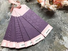 Trays with Embossing Folder Patterns - Stamp sector - Bastelzimmer Aufbewahrung - Scrapbook Organization, Paper Organization, Handmade Scrapbook, Diy Scrapbook, Scrapbooking, Diy Stationery Storage, Diy Craft Projects, Diy And Crafts, Folder Design