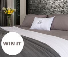 WIN a set of pure cotton 'Classique Grey' bed linen
