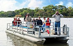 Armand Bayou Nature Center Third Sundays in Nature (Free Admission) and Mommy & Me Outdoor Experiences Fishing Pontoon Boats, Family Days Out, Programming For Kids, Nature Center, Boat Tours, Kids Events, Science And Nature, Natural Wonders, Girl Scouts