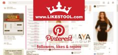 #100%FREE #pinterestlikes, #repins & #followers on likestool.com