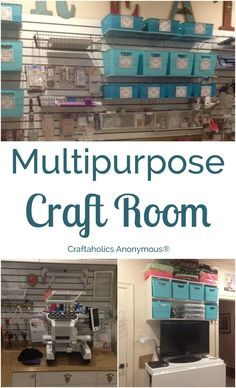 Check out this colorful and multipurpose craft room! | Craftaholics Anonymous®
