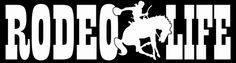 Rodeo Life Decal - Cowboy on Bronco, Horse, Bucking Bronco | LilBitOLove - Housewares on ArtFire