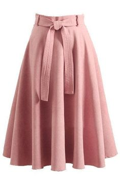 Retro high waist bow belt a-line skirt rock, fashion outfits, womens fashion Modest Fashion, Hijab Fashion, Fashion Dresses, Rock Fashion, Fashion Fashion, Fashion News, Cute Skirts, A Line Skirts, Midi Skirts