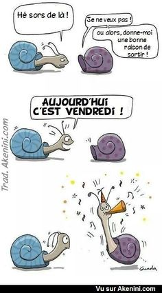 Le Weekend, Happy Weekend, Happy Friday, Funny Cute, Hilarious, Image Club, French Cartoons, Weekend Images, Monday Humor