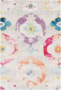Surya Bright Purple Aura silk rug - Bohemian Rectangle x Jaipur, Polypropylene Rugs, Bright Purple, Accent Rugs, Rug Making, Decorative Accessories, Decorative Accents, Making Ideas, Vintage Designs