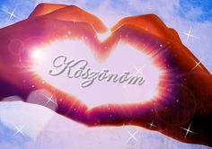 Köszönöm*- Thanks! Birthday Greetings, Happy Birthday, Cover Photos, Smiley, Diy And Crafts, About Me Blog, Thankful, Neon Signs, Entertaining