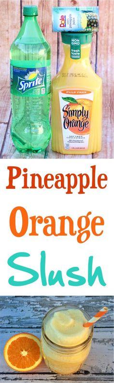Slush Recipe!  This Pineapple Orange Beverage will satisfy those slush cravings! | NeverEndingJourneys.com