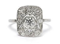 #ArtDeco 0.80ct #Diamond Ring 18CT White Gold #wedding #engagement #fabulous