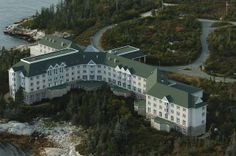 Abandoned Resort - Aspotogan Sea Spa Nova Scotia - construction began in 1993 but the project was abandoned in 1994.