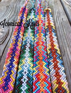 Rainbow chevron friendship bracelet pattern number 2309 - For more patterns and…