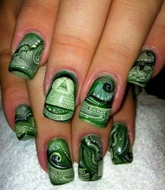 All about the money nailart #nailart @JenniferW