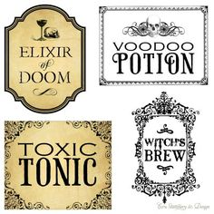 Image detail for -Ecru Stationery & Design : Vintage Apothecary Labels