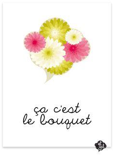 """expression française : Cette expression emploie de façon ironique le mot """"bouquet"""" qui au XIXe siècle désignait ce qu'il y avait de mieux. Ainsi, lors d'un feu d'artifices, on parlait """"du bouquet"""", c'est-à-dire le meilleur moment, que l'on gardait pour la fin du spectacle. De nos jours, cette expression est utilisée pour dire qu'un événement est le pire qui pouvait arriver."""