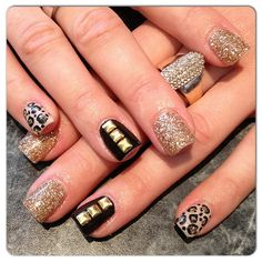 Leopard and studded