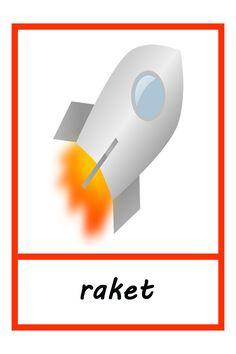 Woordkaart: raket