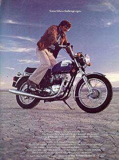 Vintage 1977 Triumph Bonneville motorcycle ad