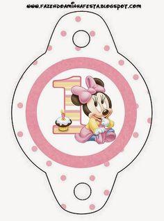 Minnie Primer Año con Lunares: Imprimibles Gratis para Fiestas.