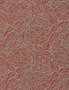 Fiori in red & silvery gold #fortuny: http://fortuny.com/Fabrics.aspx#7a3344c4-5650-4ae9-9472-c5462b79e895  Follow Fortuny on Pinterest! pinterest.com/fortuny