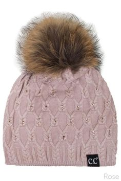 8f1fcce2391 CC Hat with Bling and Pom Rose