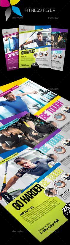 Fitness Flyer Template PSD #design Download: http://graphicriver.net/item/fitness-flyer/13039165?ref=ksioks