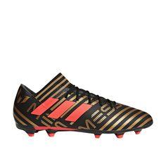 Adidas Nemeziz Messi 17.1 FG Soccer Cleats (Core BlackSolar RedTactile Gold Metallic)