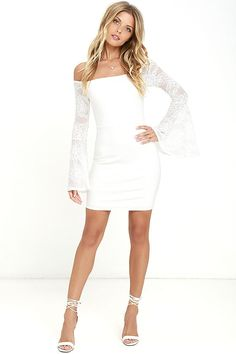 edbd412af9 Let the Special Place White Lace Off-the-Shoulder Dress take you away to