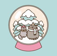 Pusheen snowglobe