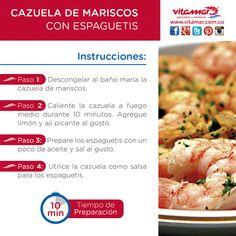 #RecetaRapidaDelDia Disfruta este fin de semana de una deliciosa Cazuela de Mariscos con esta fácil preparación. #AlimentateSanamente con @VitamarPescados www.vitamar.com.co