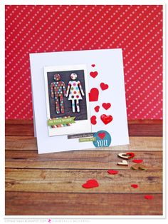 The Anticlockwise Fish Valentines Cards for Sassy Scrapper using #SimpleStories 'Daily Grind'