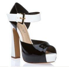 fe4d60127fe1 Color-Block Platform Sandals. Shoedazzle. Black Wellington Boots