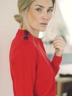 Camilla Pihl - H&M red sweater
