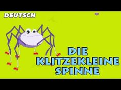 Die klitzekleine Spinne - Incy wincy spider | German Nursery Rhymes - YouTube