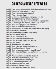 Gonna try a 30 day journal challenge